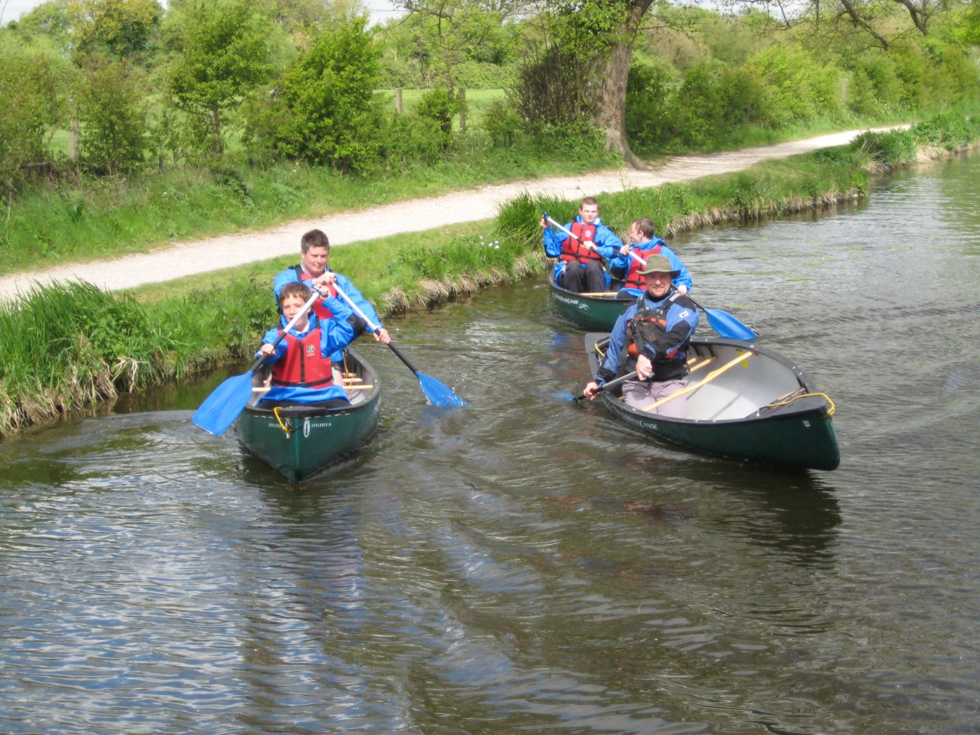 Canoeing at Chichester Canal