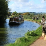 Horse drawn barge